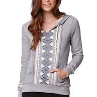 Billabong Love OF Roots Pullover Hoodie - Womens Hoodie - Gray