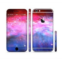The Vivid Pink and Blue Space Sectioned Skin Series for the Apple iPhone 6