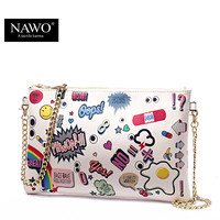 Nawo Letter Character Split Leather Handbags Women N161061k