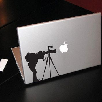 """Photographer - Decal for laptops, Macbook Pro, Air, Retina availble in 11"""" 13"""" 15"""" 17"""""""