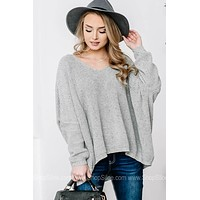 Hi Low Slouchy Oversized Sweater