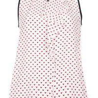 Marc By Marc Jacobs Sleeveless Printed Top