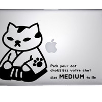 NEKO ATSUME - Pick your favourite cat among 50 designs - 1 vinyl decal size M - Pick your color - kitty collector tribute - handmade