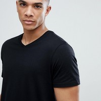 Burton Menswear V Neck T-Shirt In Black at asos.com