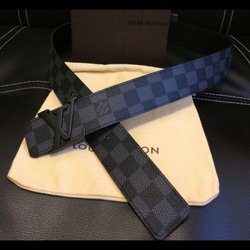 Louis Vuitton Black Damier Graphite Belt