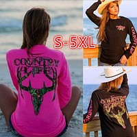fhotwinter19 new hot sale print pullover long sleeve T-shirt