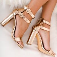 Bring On The Night Heels (Rose Gold)