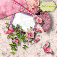 In the Pink Digital Scrapbook QUICKPAGE Layout Pre-Made Quickpages Pre-Made Layouts INSTANT DOWNLOAD
