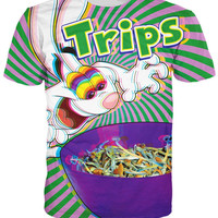 Harajuku style 3d T-Shirt trippy vibrant Trix Rabbit psychedelic Summer Style t shirt Sport tops For Women/Men Free shipping