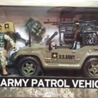 U.S. Army Patrol Jeep Play Set Action Figure Vehicle Gear Official Licensed New