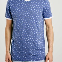 Navy Planes Slim Fit T-Shirt