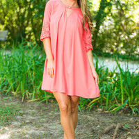 Living For The Present Dress, Coral