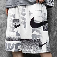 NIKE New fashion hook print couple shorts