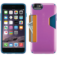 SPECK 71254-C054 iPhone(R) 6 Plus/6s Plus CandyShell(R) Card Case (Beaming Orchid Purple/Deep Sea Blue)