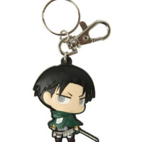 Attack On Titan Chibi Levi PVC Key Chain