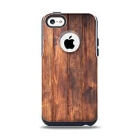 The Bright Stained Wooden Planks Apple iPhone 5c Otterbox Commuter Case Skin Set