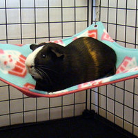 Hammock for hedgehogs, guinea pigs, ferrets, rats, rabbits and other small animals cavy reinforced with grommets