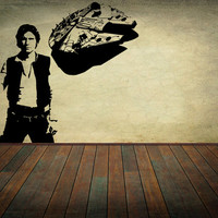 Star Wars Vinyl Wall Decal Wall Decor Han Solo Falcon Set Sticker Home Decor Kids Children Room Nursery Decal
