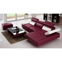 Contemporary Creative Designed Modern Leather Sectional Sofa Set