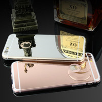 Phone cases Luxury Electroplating mirror Soft Clear TPU Case Cover For iPhone 6 6s 6 plus 5 5s cell phone case accessories
