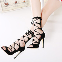 Strappy High Heel Women Shoes