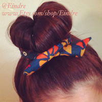 Multi Color Floral Wire Bun Twist