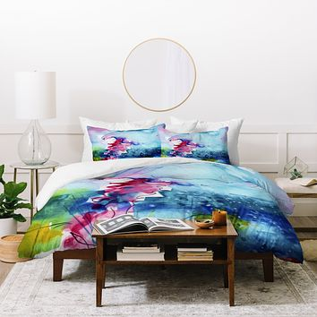 Ginette Fine Art I Love Jellyfish Duvet Cover