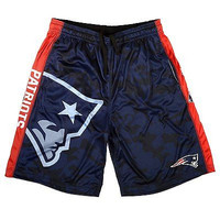 New England Patriots Forever Collectibles KLEW Big Logo Performance Shorts S-2XL