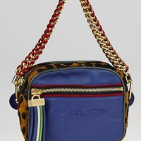 Louis Vuitton Limited Edition Blue Leather Flight Bag Savane Bag