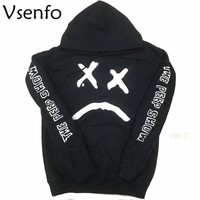 Vsenfo Lil Peep Sweatshirt Men Women Hell Boy The Peep Show Hoodies Long Sleeve Pullovers Hip Hop Sweatshirts Street Style