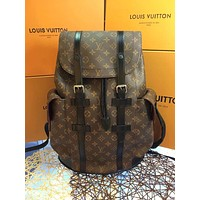 LV Louis Vuitton OFFICE QUALITY MEN'S MONOGRAM CANVAS Christopher BACKPACK BAG