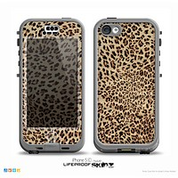 The Brown Vector Leopard Print Skin for the iPhone 5c nüüd LifeProof Case