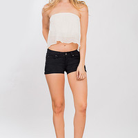 Junior WannaBettaButt Twill Shorts