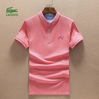 Lacoste Casual Simple Men Short Sleeve  Shirt Top Tee