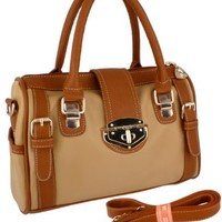 MG Collection Bradley Bowling Shoulder Bag, Brown, One Size