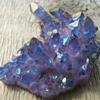 Grape purple (rose and blue) hybrid aura quartz cluster, aura crystal , aurora quartz