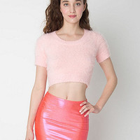 Fuzzy Cropped Tee
