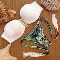 Sexy Comfortable White Bra Swimsuits for Summer
