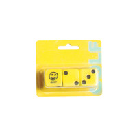 SMILEY FACE DICE YELLOW/BLACK