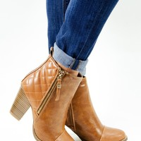 Quilt Back Western Inspired Ankle Booties