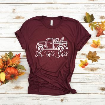 It's Fall Ya'll  - Ruffles with Love - Tee
