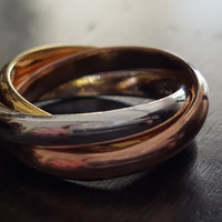 3 Color statement Rings 18k Gold PLATED Rose Gold Silver ring wedding rings jewelry