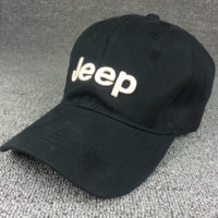Black JEEP Embroidered Baseball Cap Hat