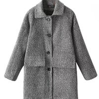 Long Sleeve Woolen Coat