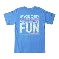 If You Obey All the Rules, You'll Miss All the Fun Tee in Flo Blue by Jadelynn Brooke