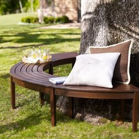 Chesapeake Curved Picnic Bench, Set of 2 | Pottery Barn