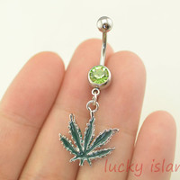 belly button rings,maple leaf belly button rings,belly ring,maple leaf bellybutton ring,friendship navel piercing ring