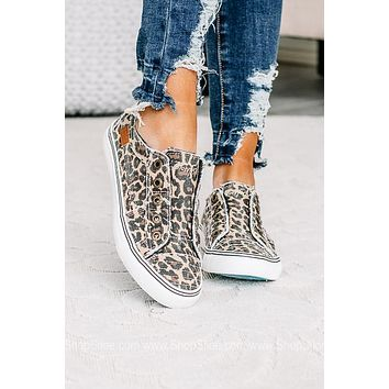 First Impressions Cheetah Print Canvas Sneakers
