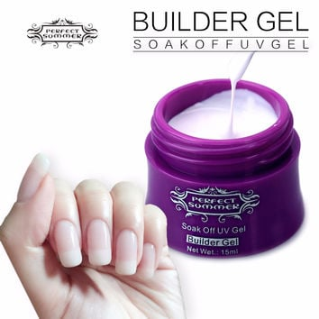 Perfect Summer Color UV Gel Builder Nail Gel French Manicure DIY Extend Nails Tips Gel 15ml Pick Any 1 Color