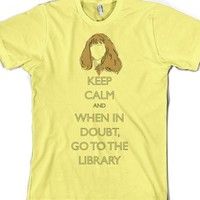 Hermione: When in doubt, go to the library-Unisex Lemon T-Shirt